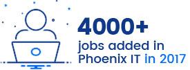 4000+ jobs added in Phoenix IT in 2017